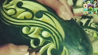 Fruit Carving Decoration By Simbon Art