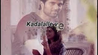 Kadalalle Lyrical Song  dear Comrade  #vijaydevarakonda