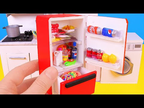 DIY Miniature Refrigerator ~ Coke, Food