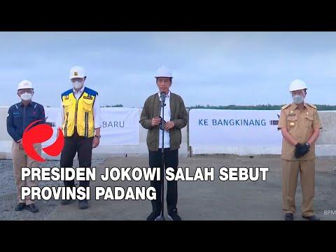 Presiden Jokowi Salah Sebut Provinsi Padang