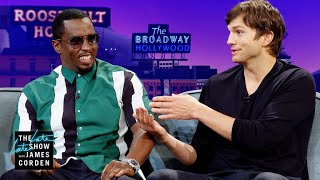 """'Punk'd' Brought Ashton Kutcher & Sean """"Diddy"""" Combs Together"""