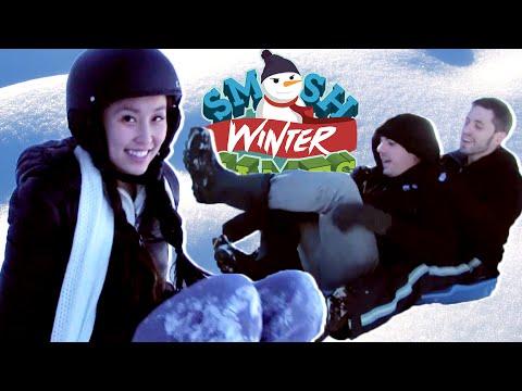THE HUMAN SLEDDAPEDE (Smosh Winter Games)