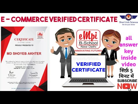 Verified Certificate for e-commerce | |#Short_trick_Science - YouTube