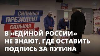 Подписи за Путина собирают в торговых центрах
