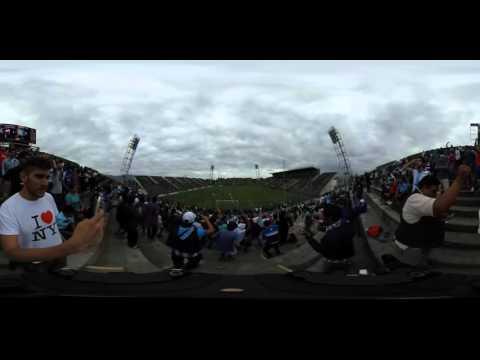 """""""Mirá la hinchada de Gimnasia y Tiro en 360º"""" Barra: La Dale Albo • Club: Gimnasia y Tiro"""