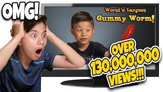 WHO ATE THE WORLD'S LARGEST GUMMY WORM??? Kids React To Their Most Popular Video! TOP 10   #2