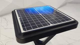 EXC-YR-W13 solar garden light youtube video