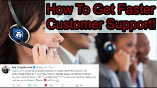 How To Get Faster Live Customer Support! (Cryptocom) CRO PUMPING!! Social Medias!