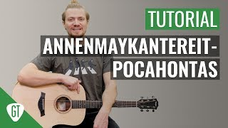 AnnenMayKantereit   Pocahontas | Gitarren Tutorial Deutsch