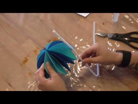 Regenschirm aus Faltblättern basteln   |Basteln mit Kindern