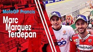 MotoGP Prancis 2019, Marc Marquez Finish Terdepan, Valentino Rossi Gagal Raih Podium
