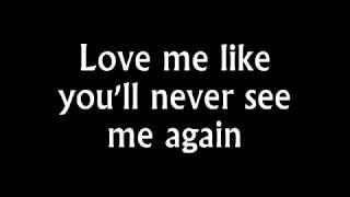 Alicia Keys   Like You'll Never See Me Again Lyrics