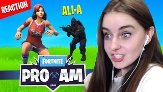 Killed by AliA in Fortnite PRO AM Charity Match (REACTION)