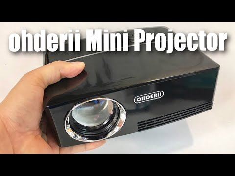 ohderii 1800 Lumens 180″ Portable Mini Home LED Projector review