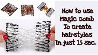 9 Very Quick And Easy Hairstyle Magic Comb || Easy Hairstyle Using Magic Clip || Quick Hairstyles