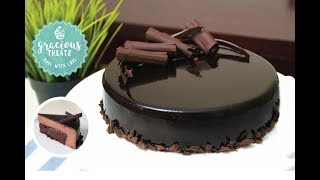 Mirror Glaze Brownie Mousse Cake | Eggless