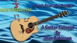 Don't Fear the Reaper - Blue Oyster Cult - Acoustic Guitar tutorial (ft. my son on lead etc.)