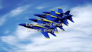 Expertise, not errors. On time, every time