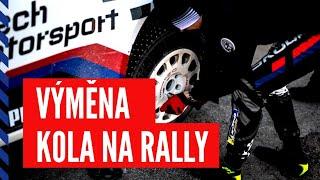 Mareš - Hloušek | rally driver POV change wheel | Rally Sweden 2020
