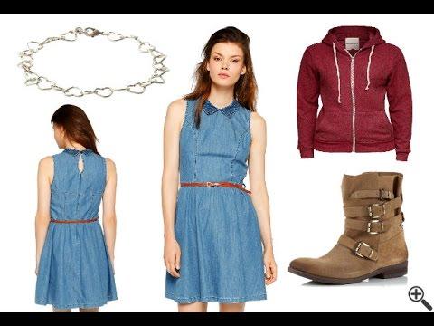 Jeanskleid mit Reißverschluss für Mädchen und Damen + Outfit Tipps