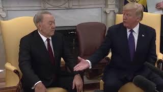 Трамппен кездесудегі Елбасының өзін-өзі СЕНІМСІЗ ұстауы