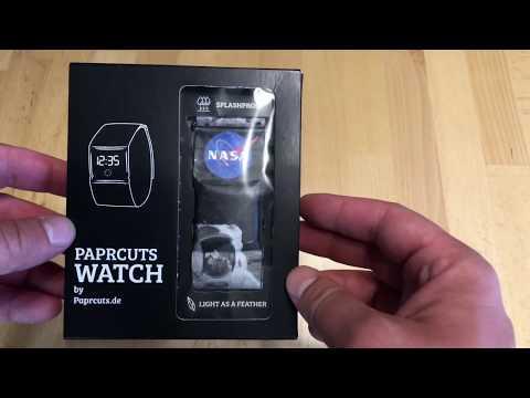Paprcuts Watch NASA Uhr aus Papier