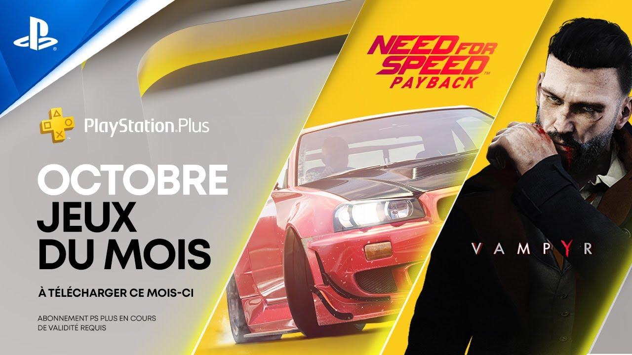 Need for Speed: Payback et Vampyr sont vos jeux PS Plus pour le mois d'octobre
