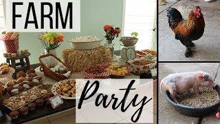 Farm Themed Birthday Party   Farm Party Ideas