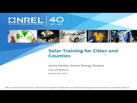 Solar PV Training Program Application for Cities and Counties ...