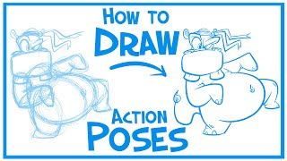 Lets Draw Action Poses: Cartoon Karate Hippo Pt. 1