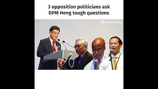 3 opposition politicians vs Heng Swee Keat