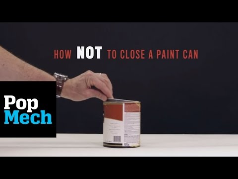 The Best Way To Close A Paint Can Without Making A Mess