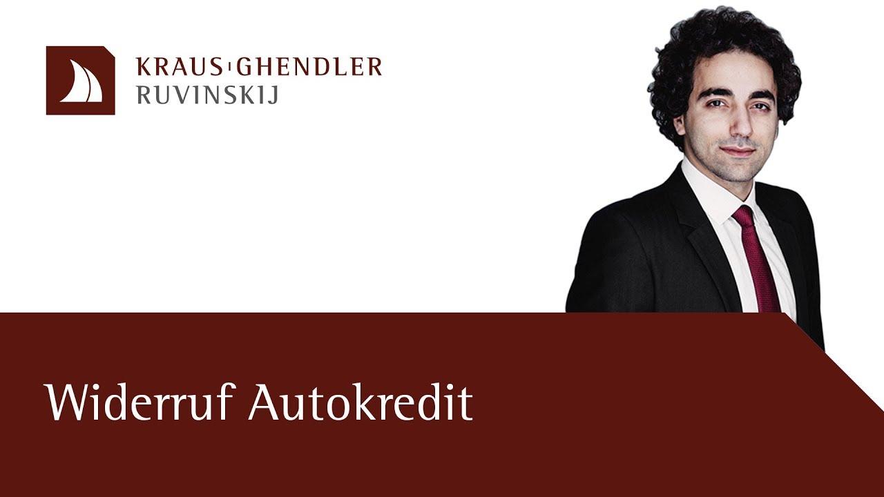 Widerruf Autokredit – Alle raten und die Anzahlung zurückerhalten