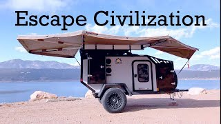Ultimate Rugged Overland Off-Road Grid Teardrop Trailer To Escape