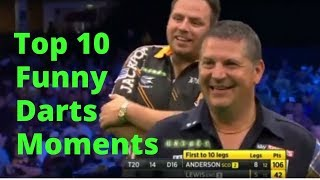 Top 10 Funny Darts Moments: a Video of Darts Fails and Crazy Moments on the Darts Stage
