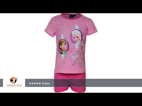Frozen - Die Eiskönigin Pyjama Mädchen Schlafanzug Nachtwäsche Kurz (2146) |