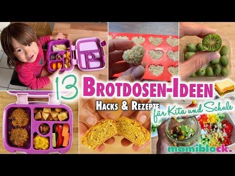 13 Brotdosen Ideen 🥪😋   Frühstück   Rezepte Kita und Schule   mamiblock