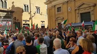 Manifestazione a sostegno di Matteo Salvini.