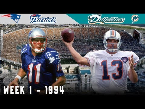 Bledsoe & Marino EPIC Opening Day Duel! (Patriots vs. Dolphins, 1994)