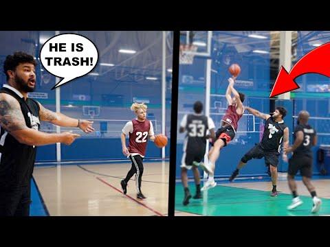 Aggressive Trash Talker Talks S*** & Tries To INJURE My Teammate! 5v5 Basketball!