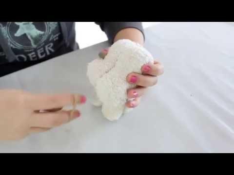 Handtücher | Hund aus Handtuch bastel | handtücher besticken | handtücher mit namen