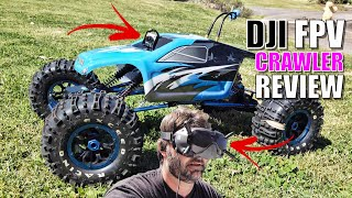1/8th Exceed MAD TORQUE Rock Crawler with DJI DIGITAL FPV Review - Inspect, Setup, Run & Range Test