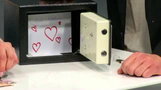 Xcase Stahlsafe mit digitalem Code-Schloss für Wand-/Schrankmontage