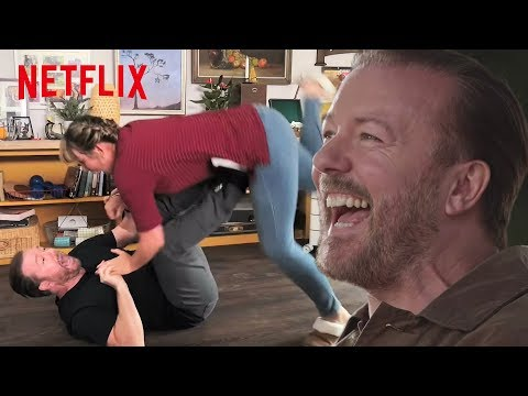 Video trailer för Hilarious Bloopers from Ricky Gervais' After Life Season One