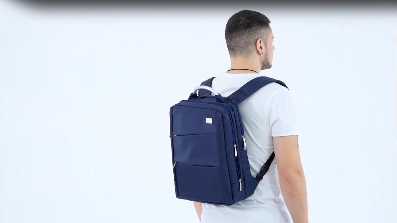 Рюкзак для ноутбука Remax Double 565 (Black) video preview