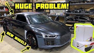 Rebuilding a Wrecked 2018 Audi R8 Part 7