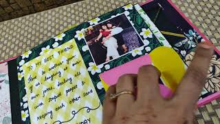 Scrapbook ideas | scrapbook for best friend | floral theme scrapbook
