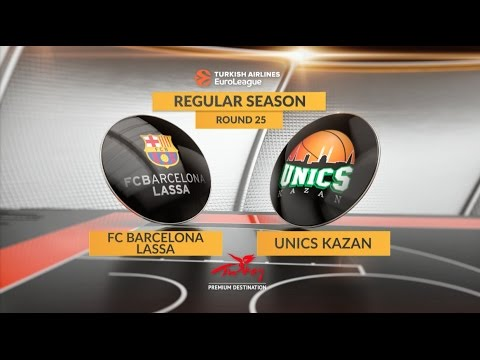EuroLeague Highlights RS Round 25: FC Barcelona Lassa 70-62 Unics Kazan