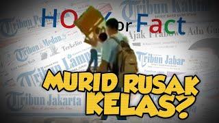 Hoax or Fact: Siswa Mengamuk dan Rusak Meja dan Kursi di Aceh?