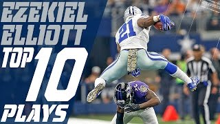Ezekiel Elliott's Top 10 Plays of the 2016 Season | NFL Highlights